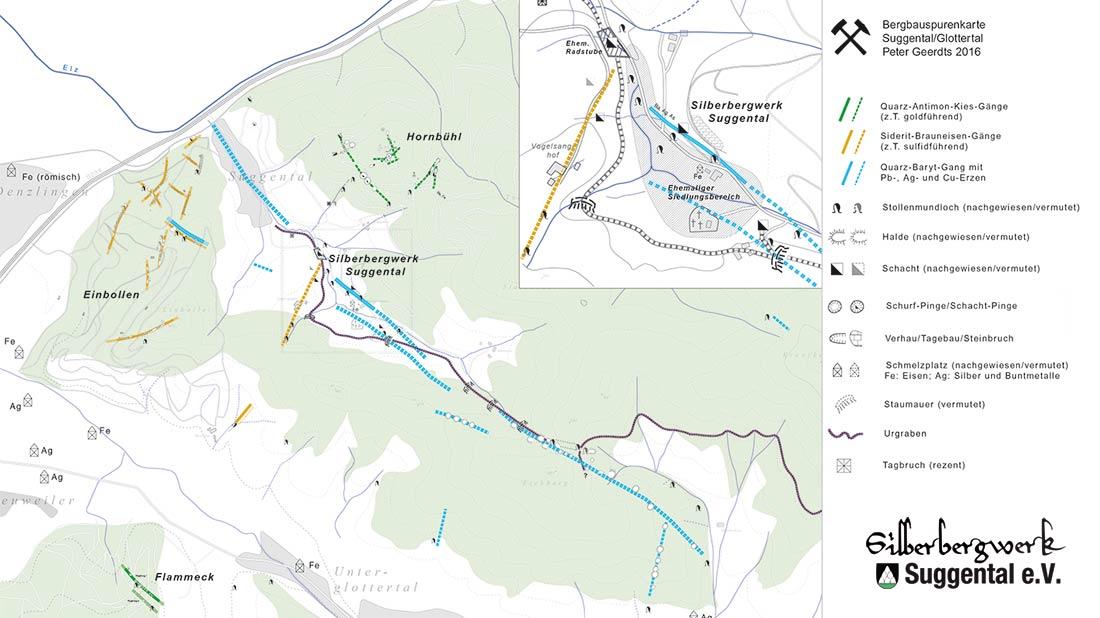 Bergbauspurenkarte